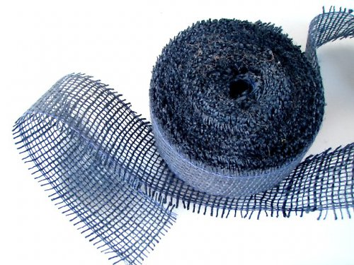 Jutová dekorační páska  (tmavě modrá)