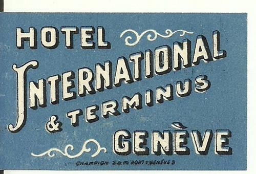 Hotelové nálepky International Geneve