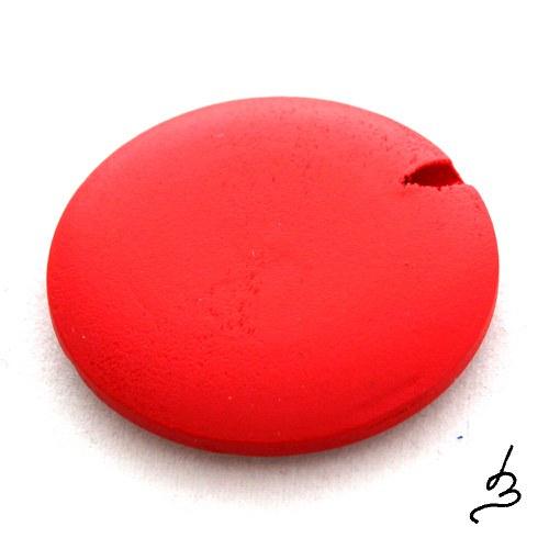 Dřevěná placka červená 30mm - 2 ks