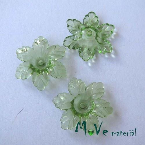 Akrylový květ 22mm, 4ks, zelený