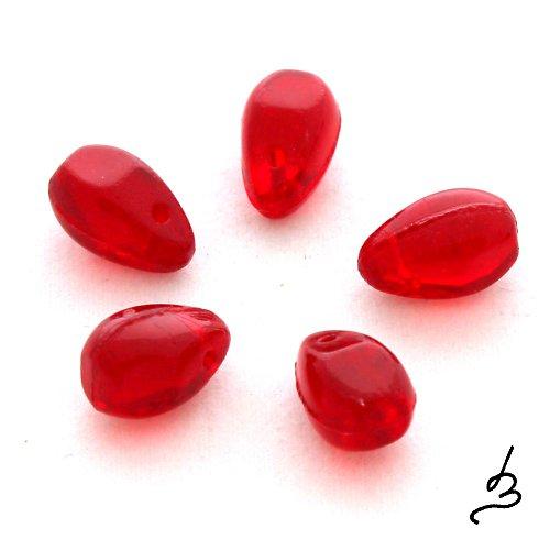 Červené kapkovité, 10 ks