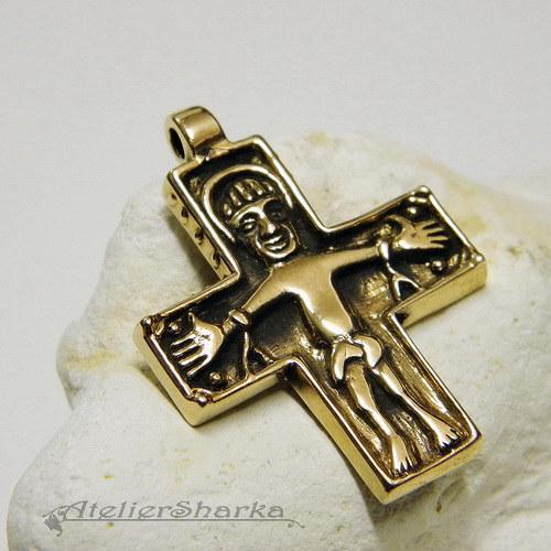 Kříž Birka mosazný