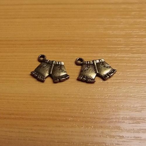 Kraťasy -  bronz - 10mm x 17mm - 2 kusy