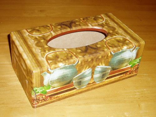 Krabička na kapesníky Čajová konvice