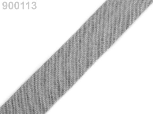Šikmý proužek 14 mm zažehlený (5m) - Agate Gray