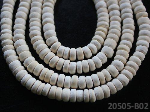 20505-B02 Kokosové rondelky 8mm SVĚTLÉ, bal.20ks