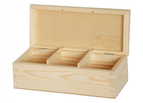 Krabička na čaj tři přihrádky DL87
