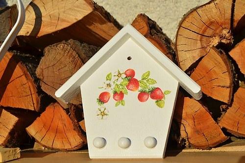 Věšáček na utěrky, na klíče - jahody