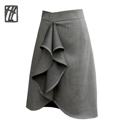Společenská sukně šedá eminence