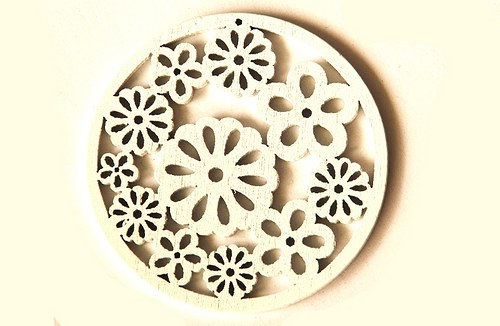 dřevěná kolečka- bílá