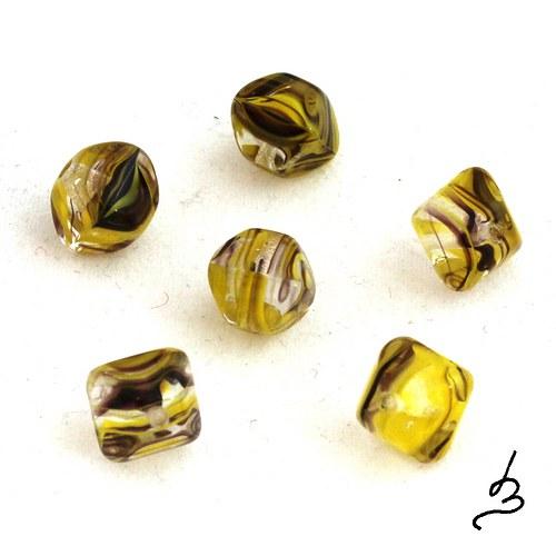 Žlutohnědé polštářky, 15 ks