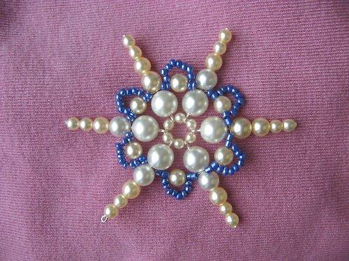 Vánoční ozdoba - hvězdička modrá