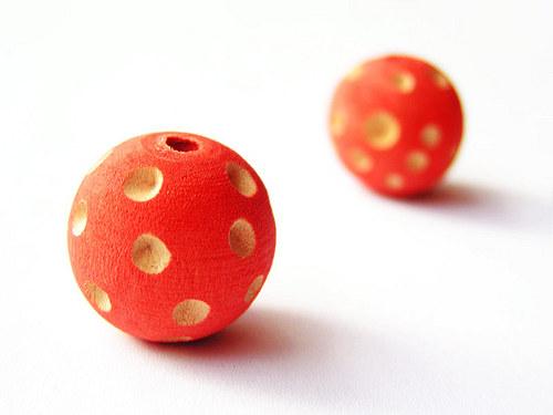 Oranžová puntíkovaná kulička ((D41))