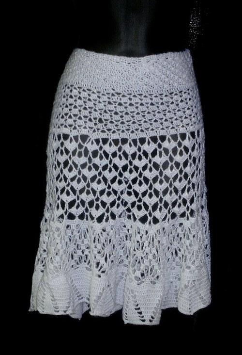 Letní kouzla s háčkem - krajková háčkovaná sukně
