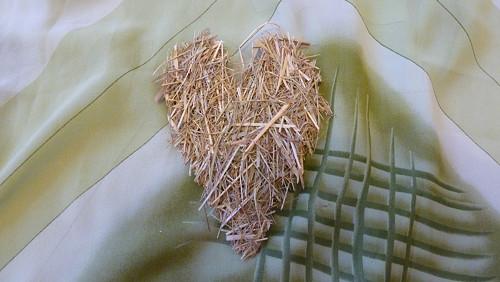 Srdce ze sena malé podlouhlé oboustranné