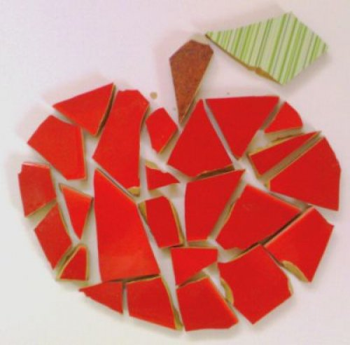 Keramická mozaika Jablko