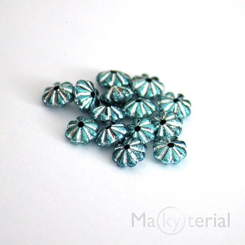 Akrylové korálky - modré - 30 ks