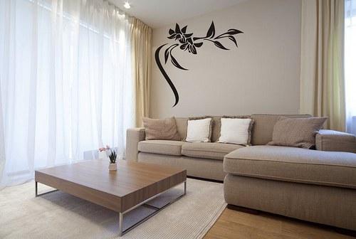 Kvety 58x60cm Nálepka na stenu 3018n