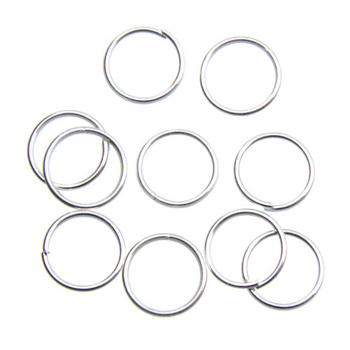 Stříbrné spojovací kroužky 8 mm, 100 ks