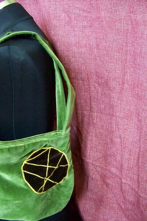 zelenkavá kabelka/taška