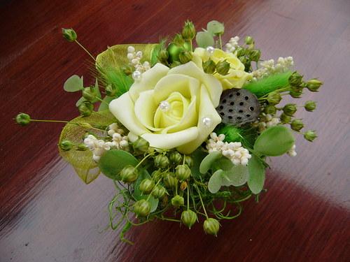 jednohubky :) - květinová dekorace