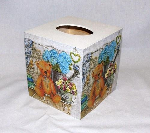 Medvídková krabička na kapesníky II.