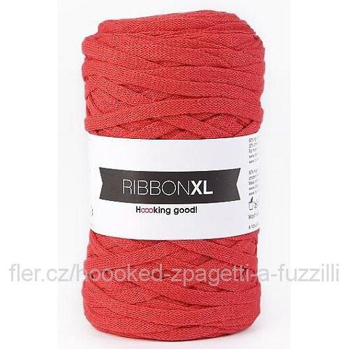 Hoooked RibbonXL - červená (130 m)