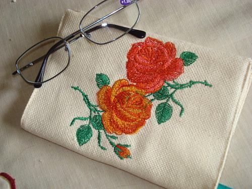 Obal na knihu s růžemi