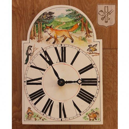 Ručně malované hodiny - bajka - menší
