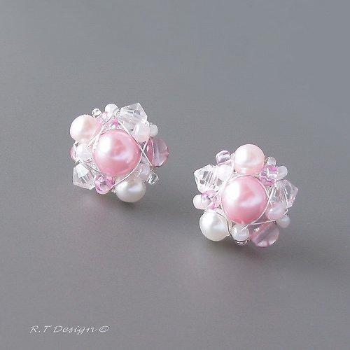 Náušničky  Pink Rose ...