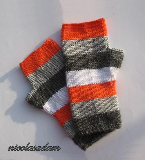 Bezprsťáky proužkaté ve studených odstínech :)