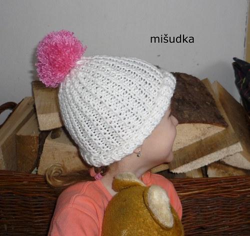Čepice jako od maminky - dětská bílá 1