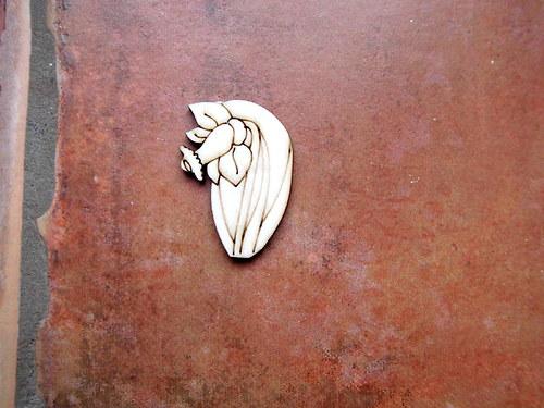 2D výřez narcis se stonkem č.1-4,1x3cm