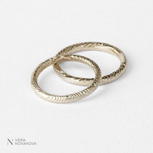 Snubní prsteny Kroužky - bílé zlato