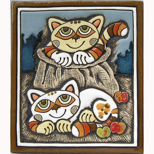 Keramický obrázek - Kočky v pytlíku K-115-N