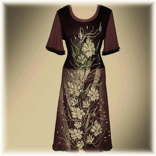 Šaty malované,M,L,XL,XXL