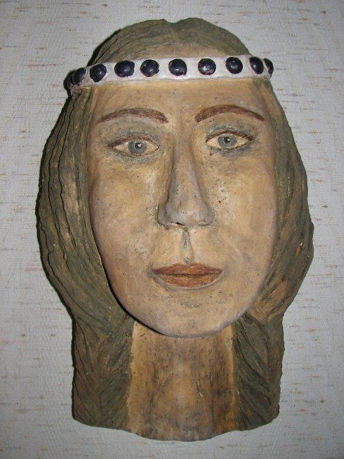 Indiánka - maska v 33 cm