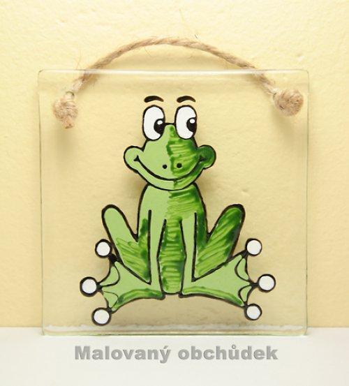 Skleněný obrázek s žabákem Kulivočkem