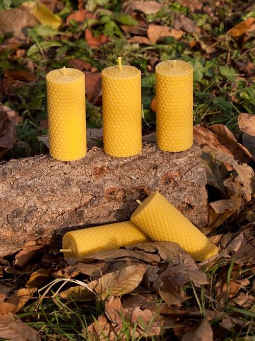 Svíčka ze včelího vosku - motaná 6
