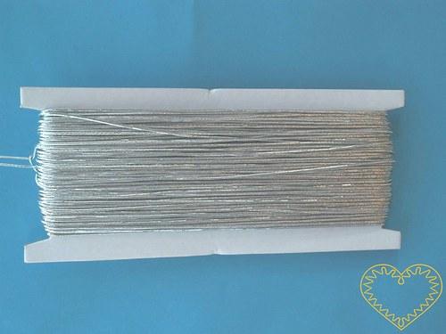 Stříbrná kulatá pruženka ø 1 mm, délka 50 m