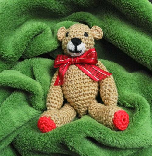 Medvídek s červenou mašličkou