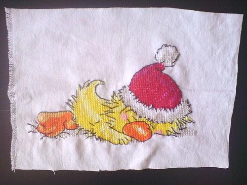 Spící kuře Suzzy