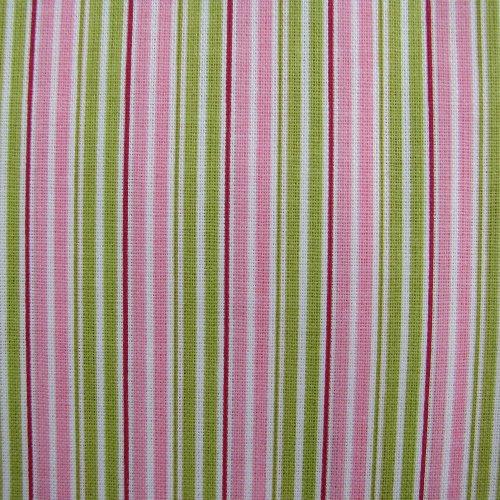 látka 100% bavlna - sv. zelený proužek