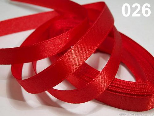 Stuha saténová š.12mm červená