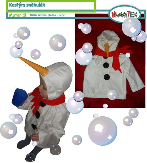 sněhulák karnvalová maska