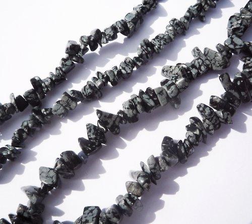 Vločkový obsidián zlomky 10 cm