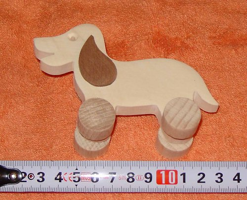 pes - dřevěná hračka