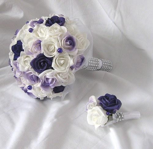 Svatební set - tmavě fialová + lila