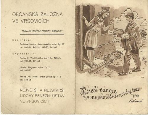Poštovní kalendář 1947