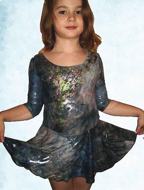 Šaty dětské na krasobruslení